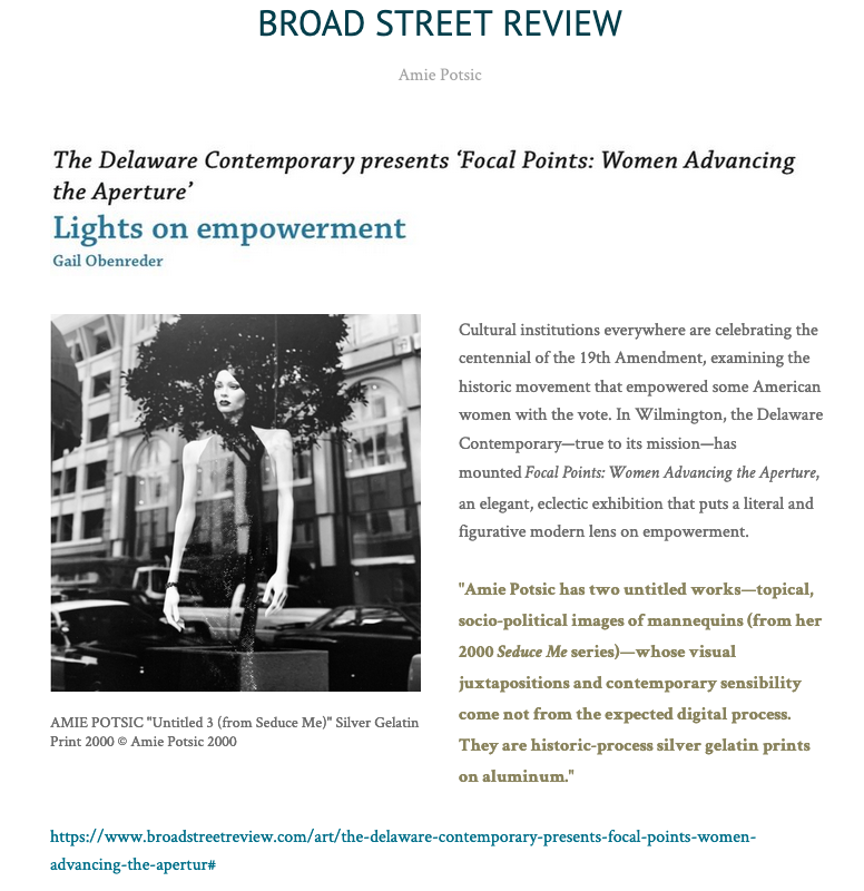 Broad Street Review Focal Points Press 2020